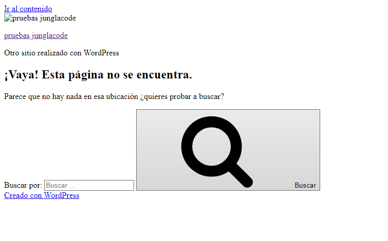 error en wordpress junglacode