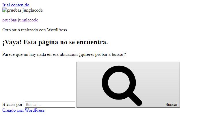 error en wordpress junglacode